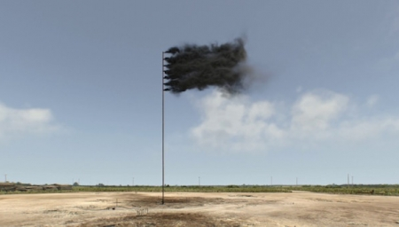 Artist Fashions Foreboding Black Smoke Flag As Powerful Climate Change Symbol